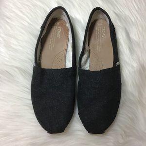 4b73cf5259d Toms Shoes - Toms Black Classic Wooly Fleece Lined Flats